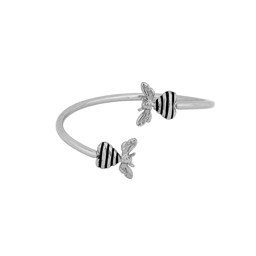 Bee Loved Cuff Silver