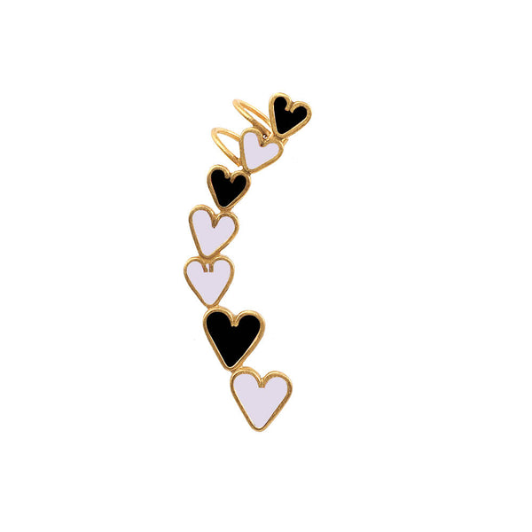 Queen Of Hearts Earcuff