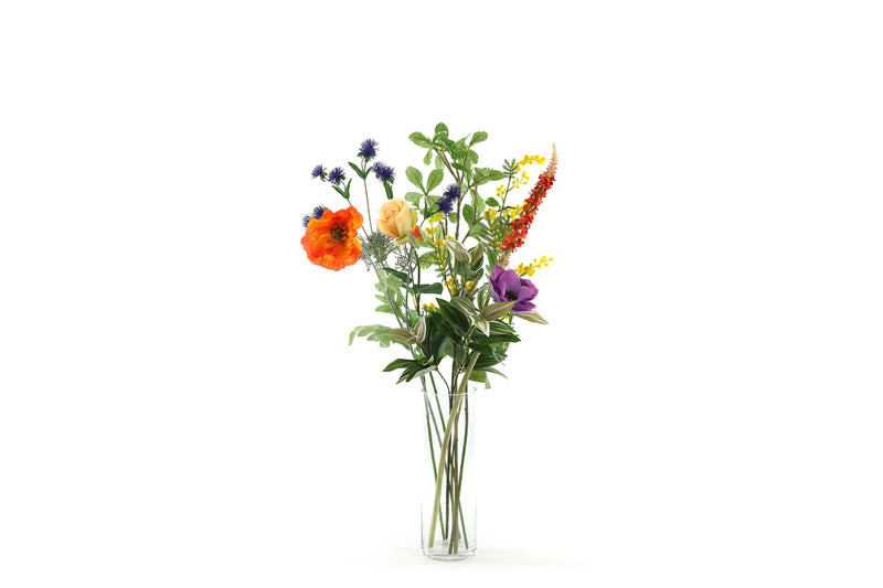 silk flowers in vase