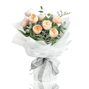 Juliet Garden Rose Fresh Flower Bouquet