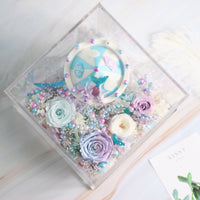 Léselle Preserved Flower - Carousel with Music and LED light (blue)