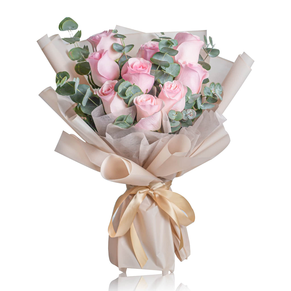 America Novia Pink Rose Fresh Flower Bouquet