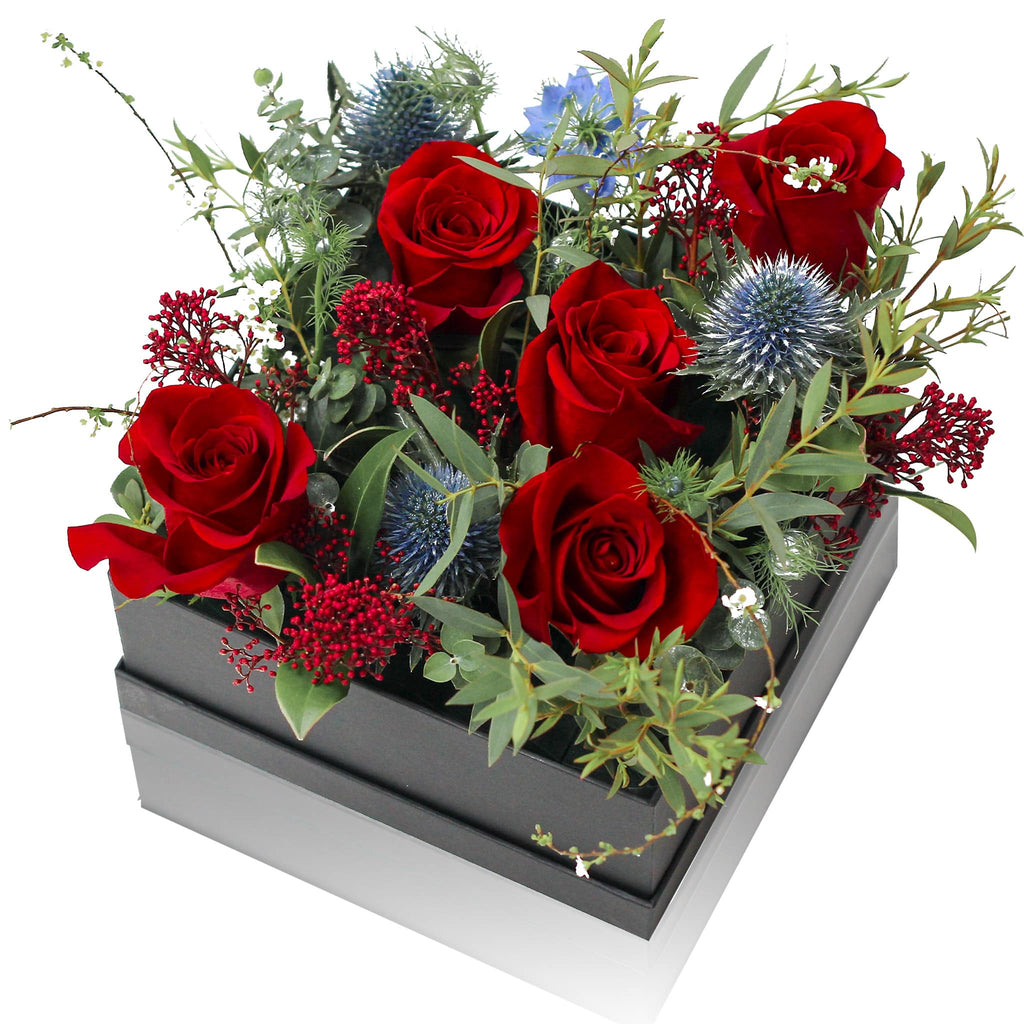 Red Rose Fresh Flower Box