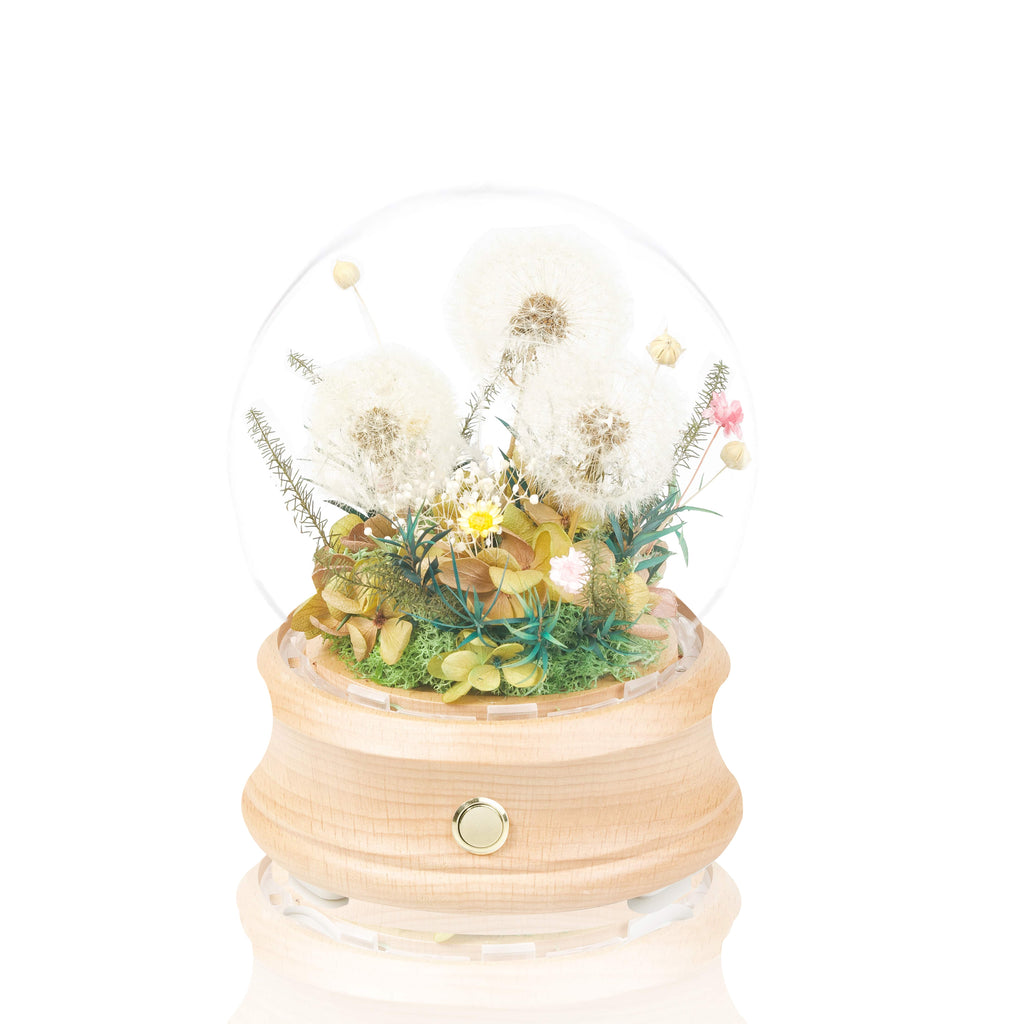 Eternal Dandelion Crystal Ball Bluetooth Speaker 蒲公英永生花水晶球藍牙喇叭
