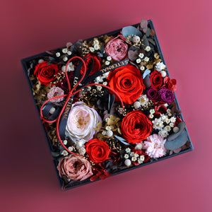 Preserved Flower - Léselle's Floral Gift Box (red)