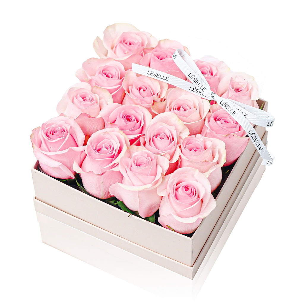 16 Pink Rose Fresh Flower Box