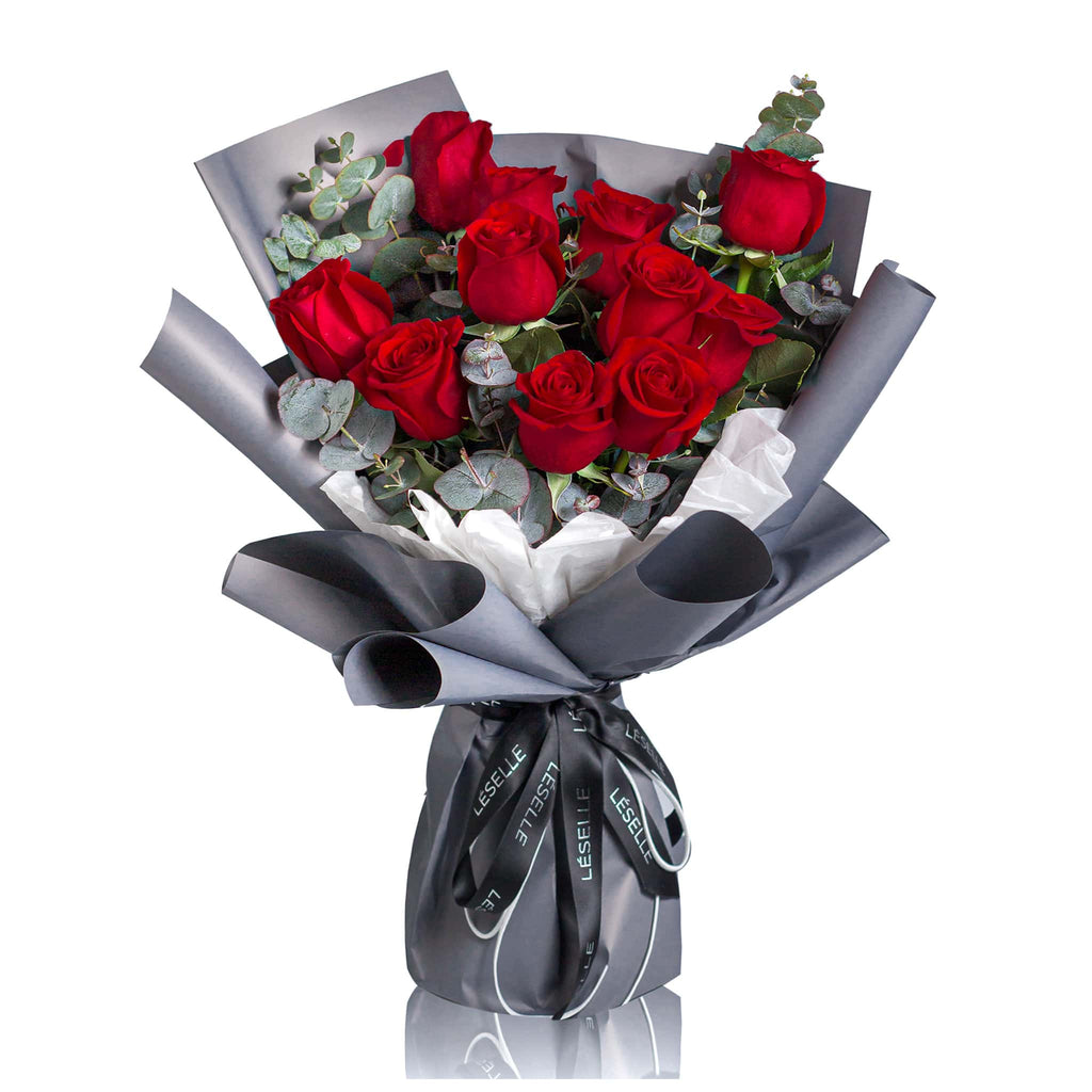 American Red Rose Fresh Flower Bouquet 紅玫瑰鮮花花束