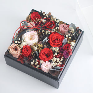 Léselle's Flower Box (Red)|Forever Rose|Eternal Flower|Léselle