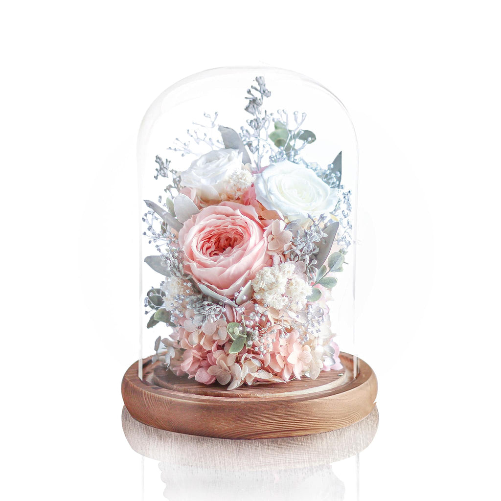 Preserved Flower in Glass Dome 玫瑰永生花玻璃罩擺設