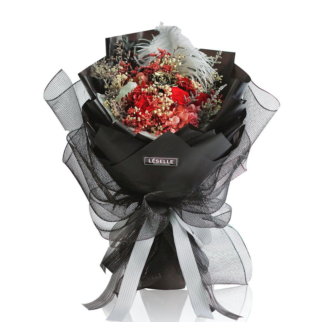 Rose Bouquet Black|Forever Rose|Eternal Rose|Preserved Flower|Léselle