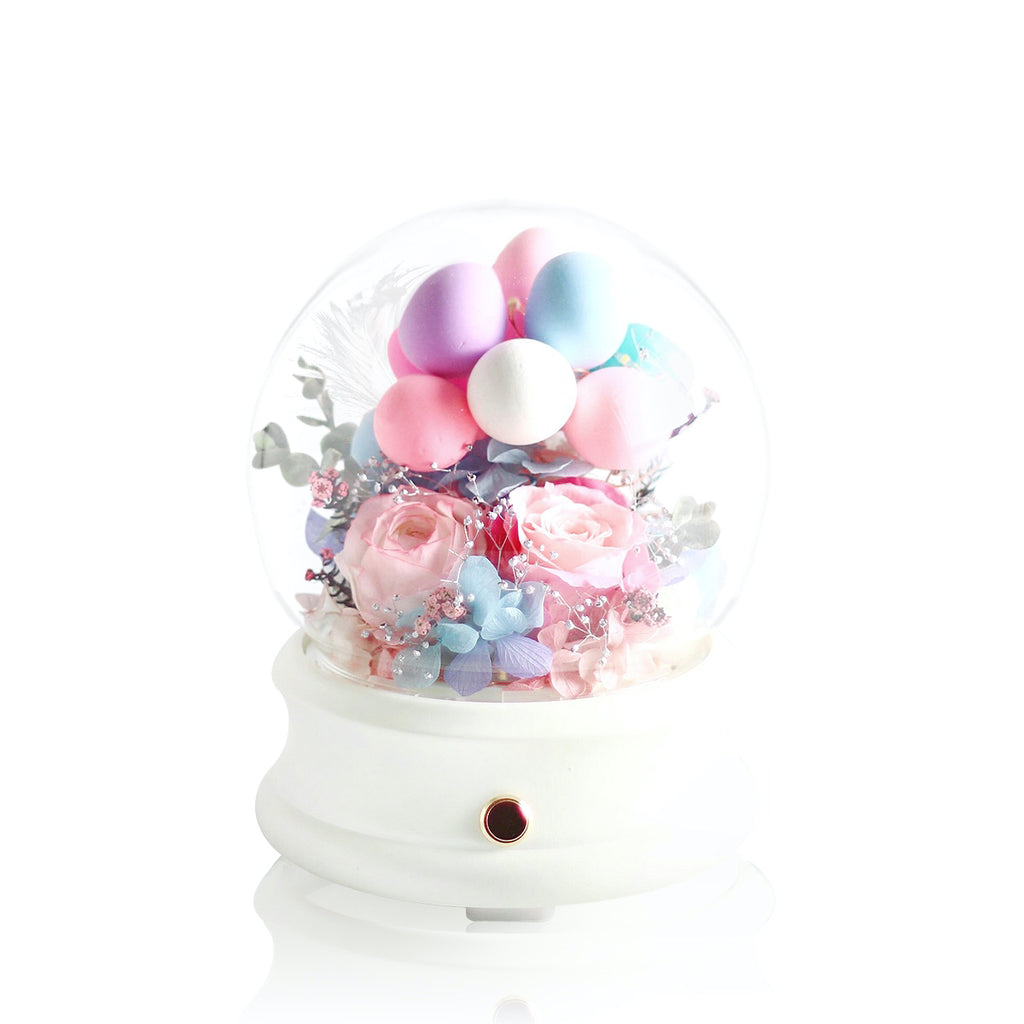 Eternal Flower Crystal Ball Bluetooth Speaker with LED 保鮮花永生花水晶球藍牙喇叭