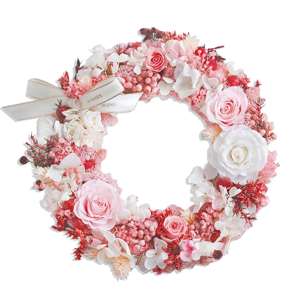Christmas Wreath (Pink)|Forever Rose|Eternal Flower|Léselle