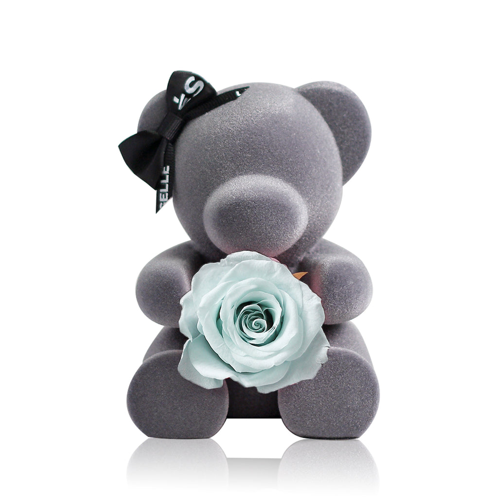 Eternal Rose Bear (Baby Blue)|Forever Rose|Eternal Flowers|Léselle