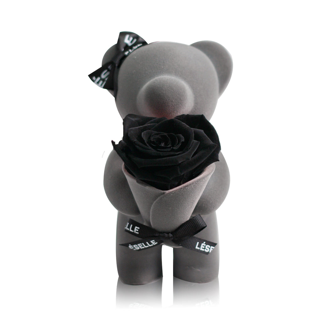 Eternal Rose Bear (Blue)