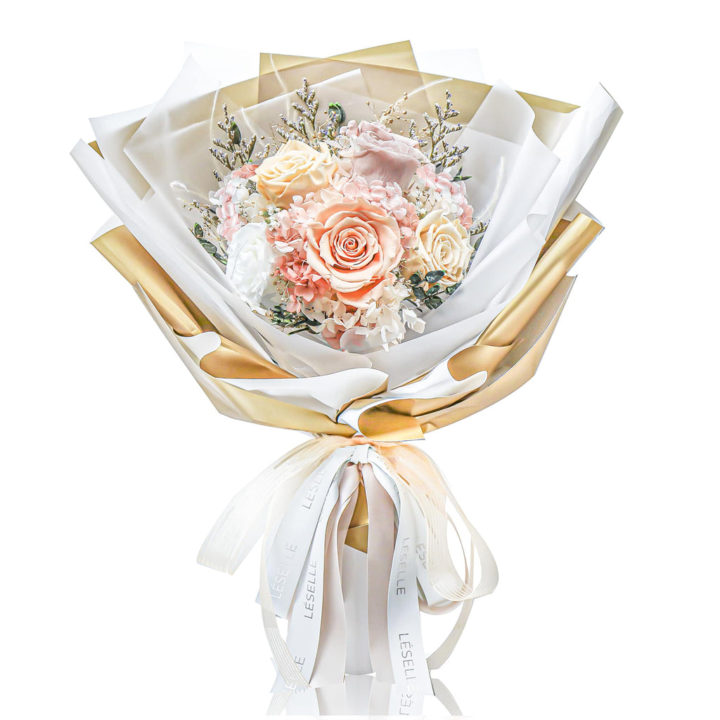 Eternal Rose Bouquet (Champagne)