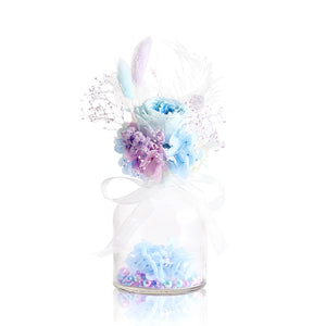 Forever Rose in a Vase (Blue & Purple)