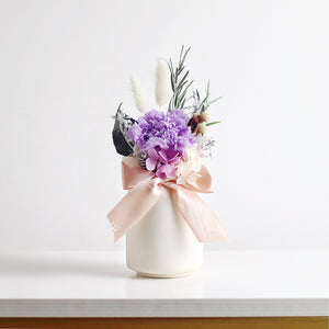 Eternal Carnation in a Vase (Purple)