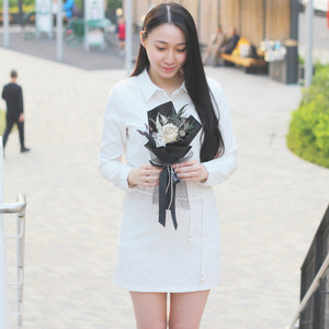 Single Rose Bouquet (White)