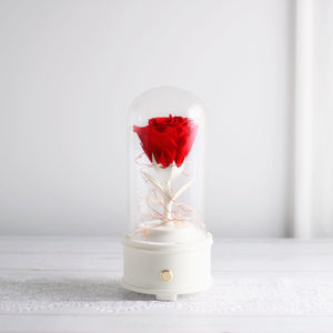 Léselle Preserved Flower - Classic Rose bluetooth speaker (red)