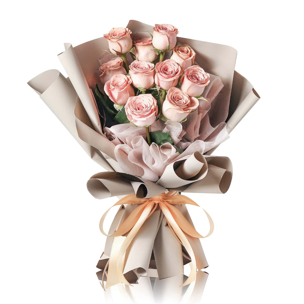 Kenya Cappuccino Rose Fresh Flower Bouquet
