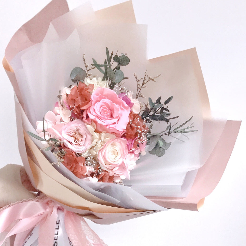 Rose Bouquet (Autumn Pink)|Eternal Rose|Preserved Flower|Léselle