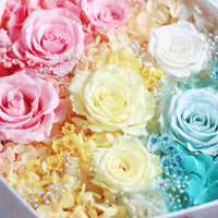 Preserved Flower - Léselle's Floral Gift Box (rainbow)