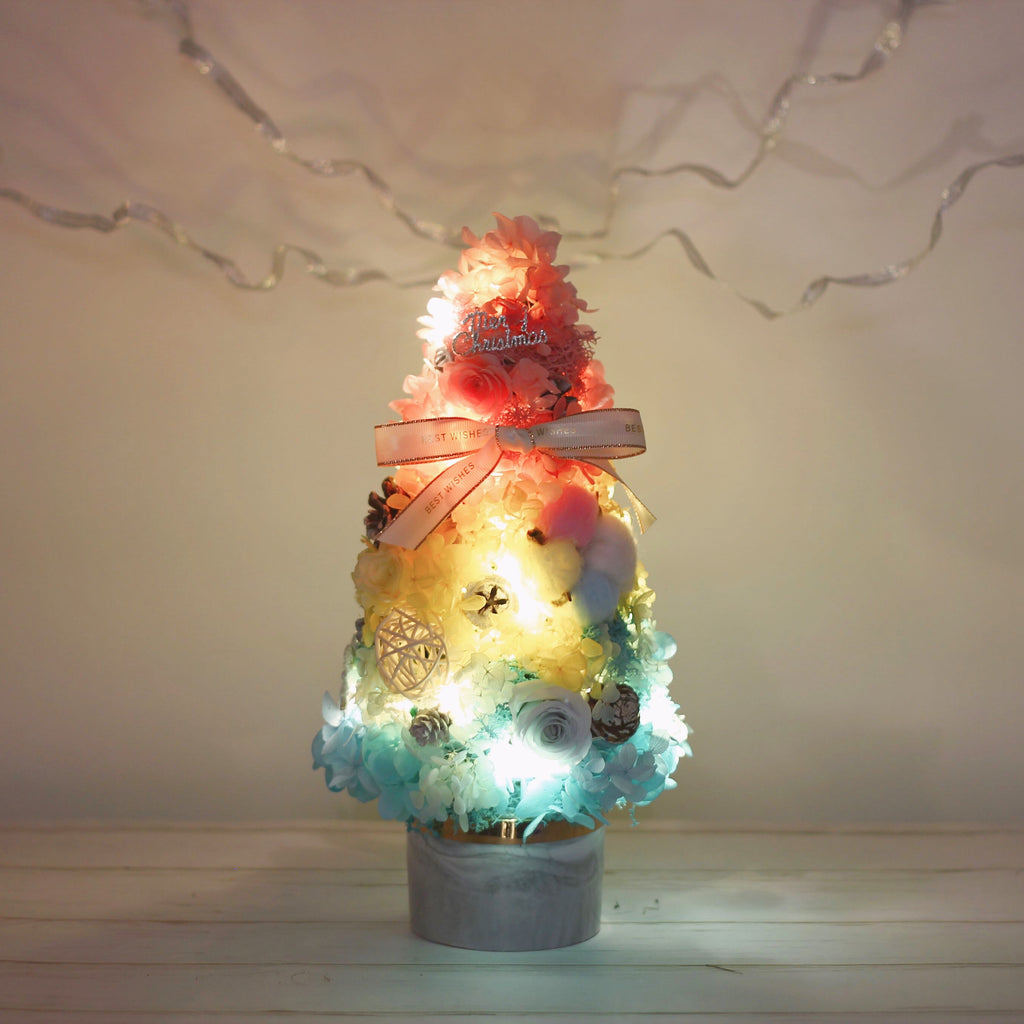 Léselle Preserved Flower - Christmas Tree (rainbow)