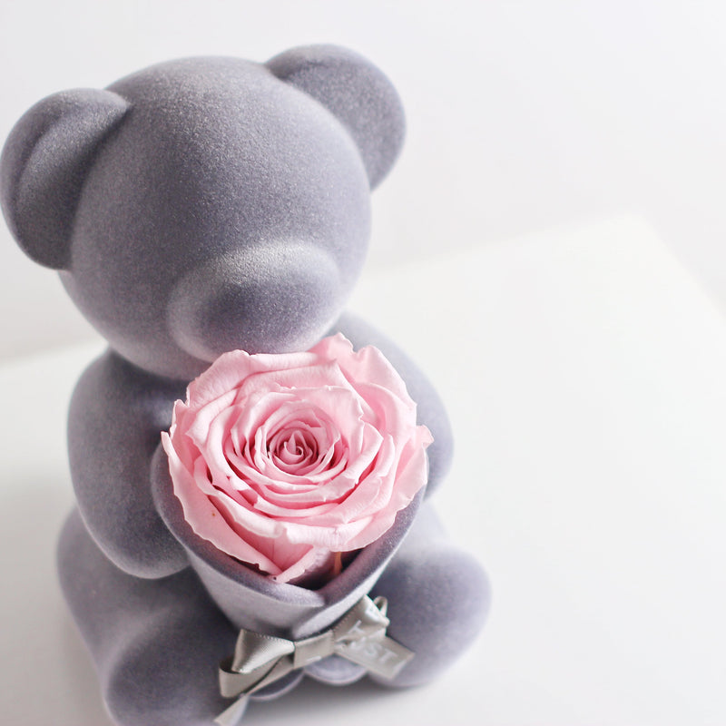 Eternal Rose Bear Music Decoration (Pink)