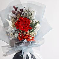 Single Carnation Bouquet (Red)