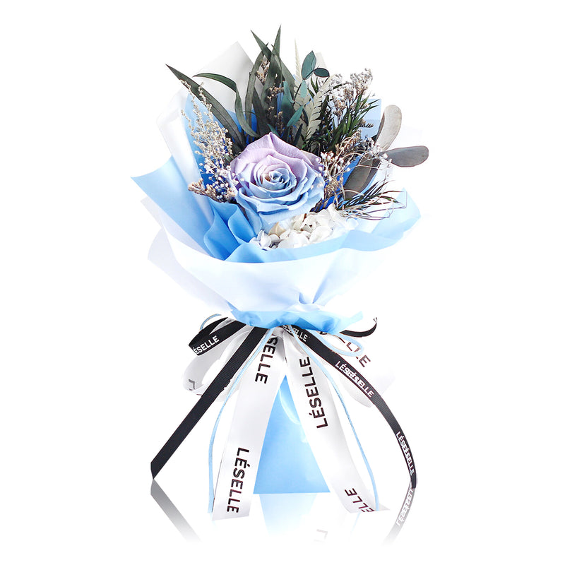 Single Rose Bouquet (Light Blue)|Forever Rose|Eternal Flower|Léselle