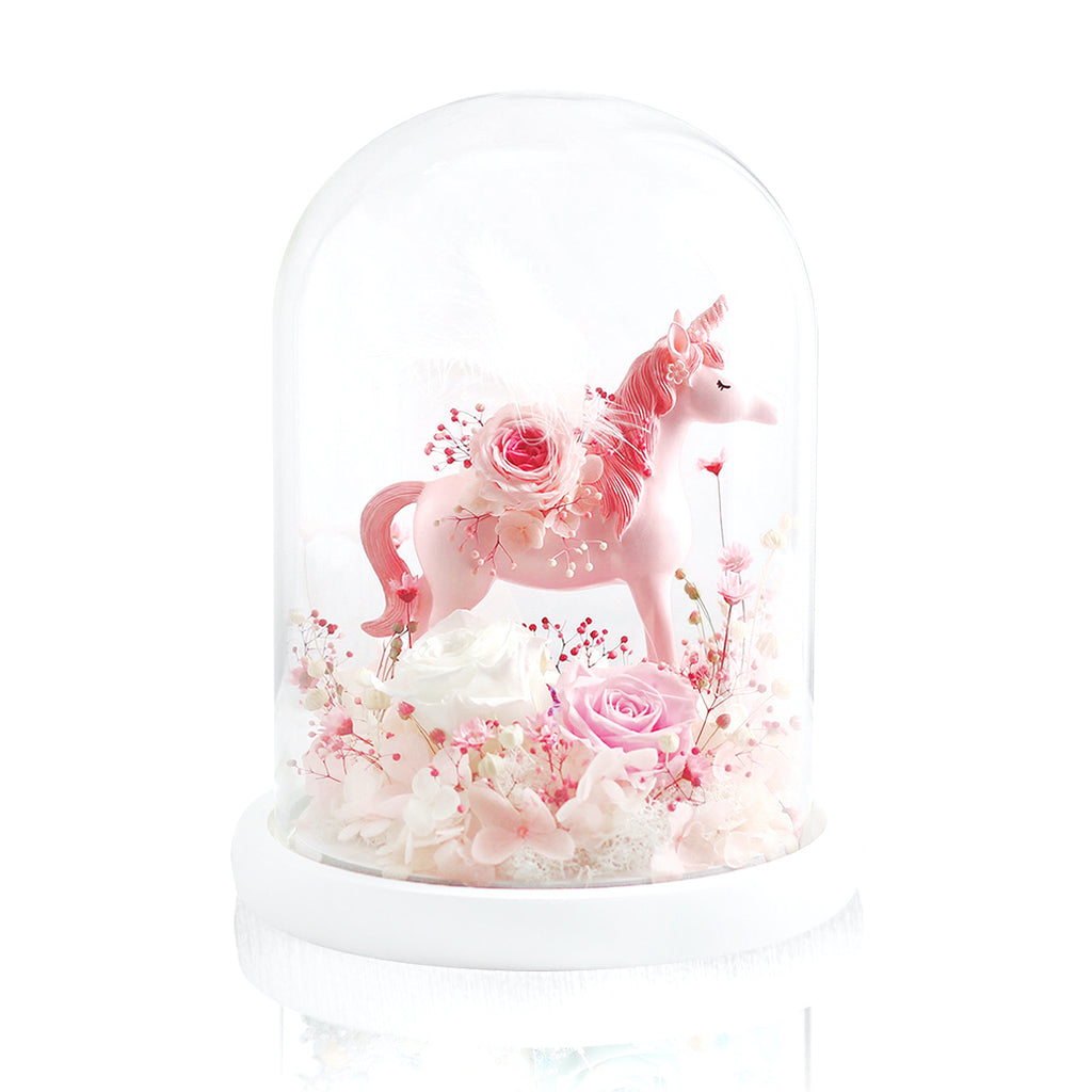 Unicorn with Preserved Flowers 永生花獨角獸