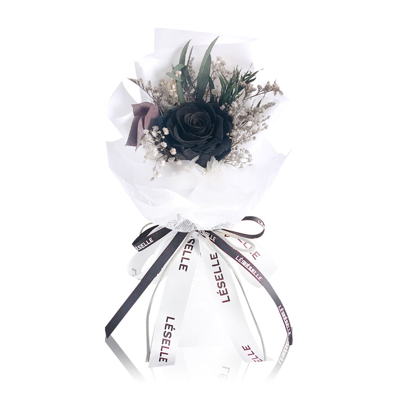 Single Rose Bouquet (Black)|Forever Rose|Eternal Flower|Léselle