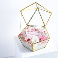 Pink Rose Ring Box with LED light|Forever Rose|Eternal Flower|Léselle