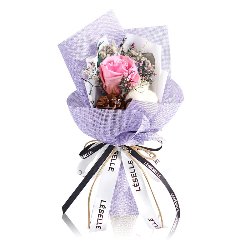 Single Rose Bouquet (Pink)|Forever Rose|Eternal Flower|Léselle