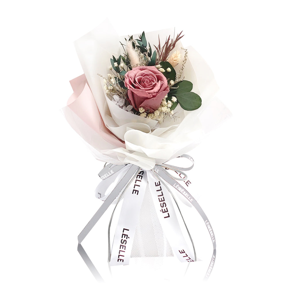 Single Rose Bouquet (Coffee Red)|Forever Rose|Eternal Flower|Léselle