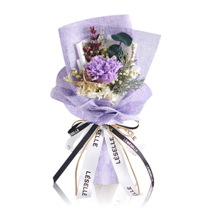 Single Carnation Bouquet (Purple)