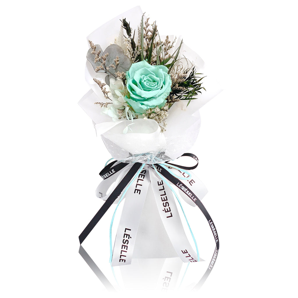 Single Rose Bouquet (Tiffany Blue)|Forever Rose|Eternal Flower|Léselle