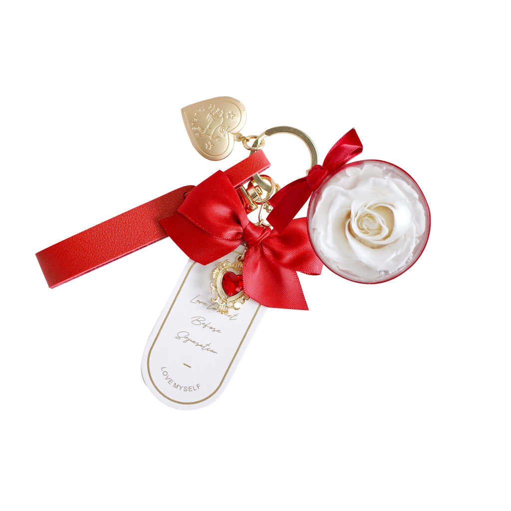 Keyring (White & Red)