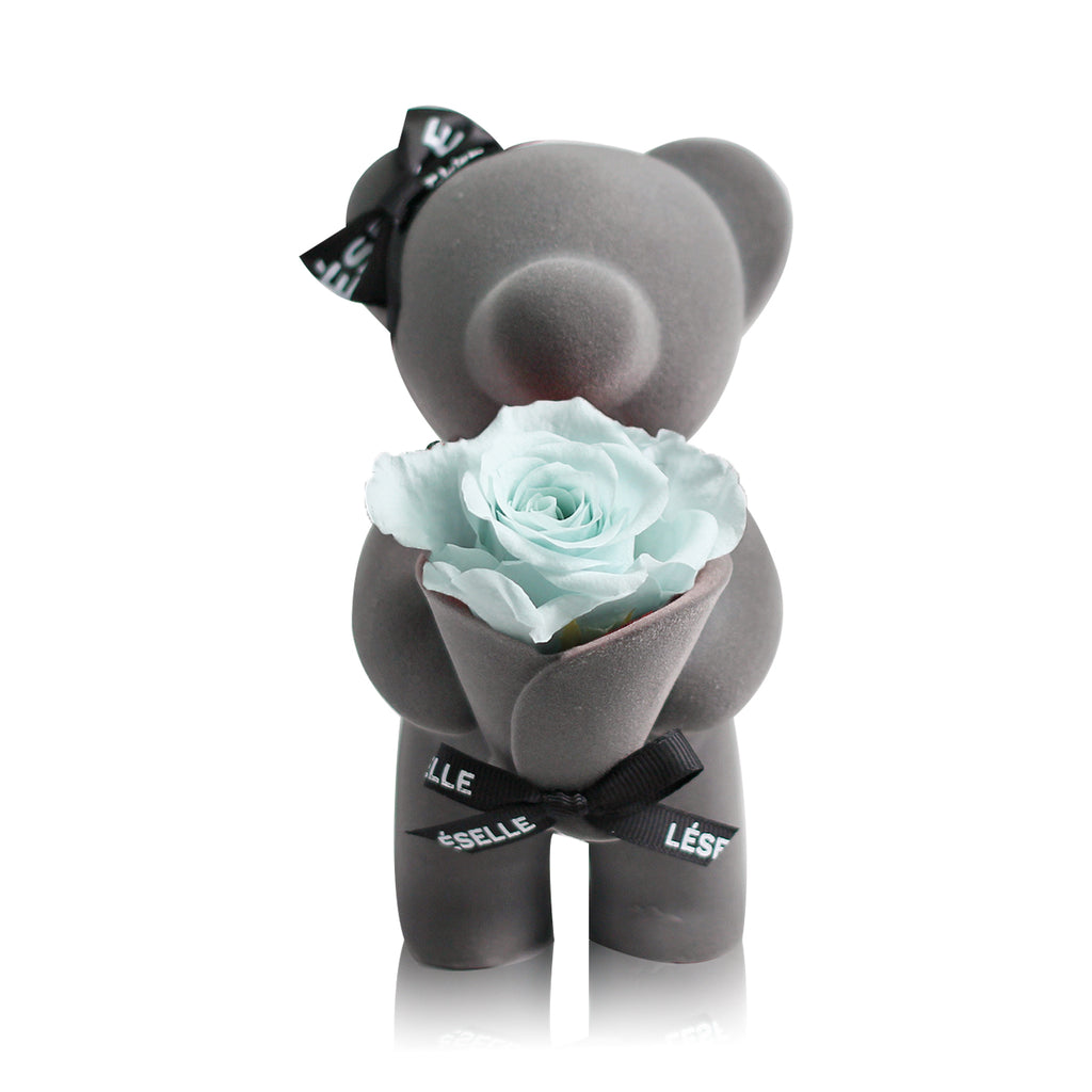 Eternal Rose Bear (Baby Blue)