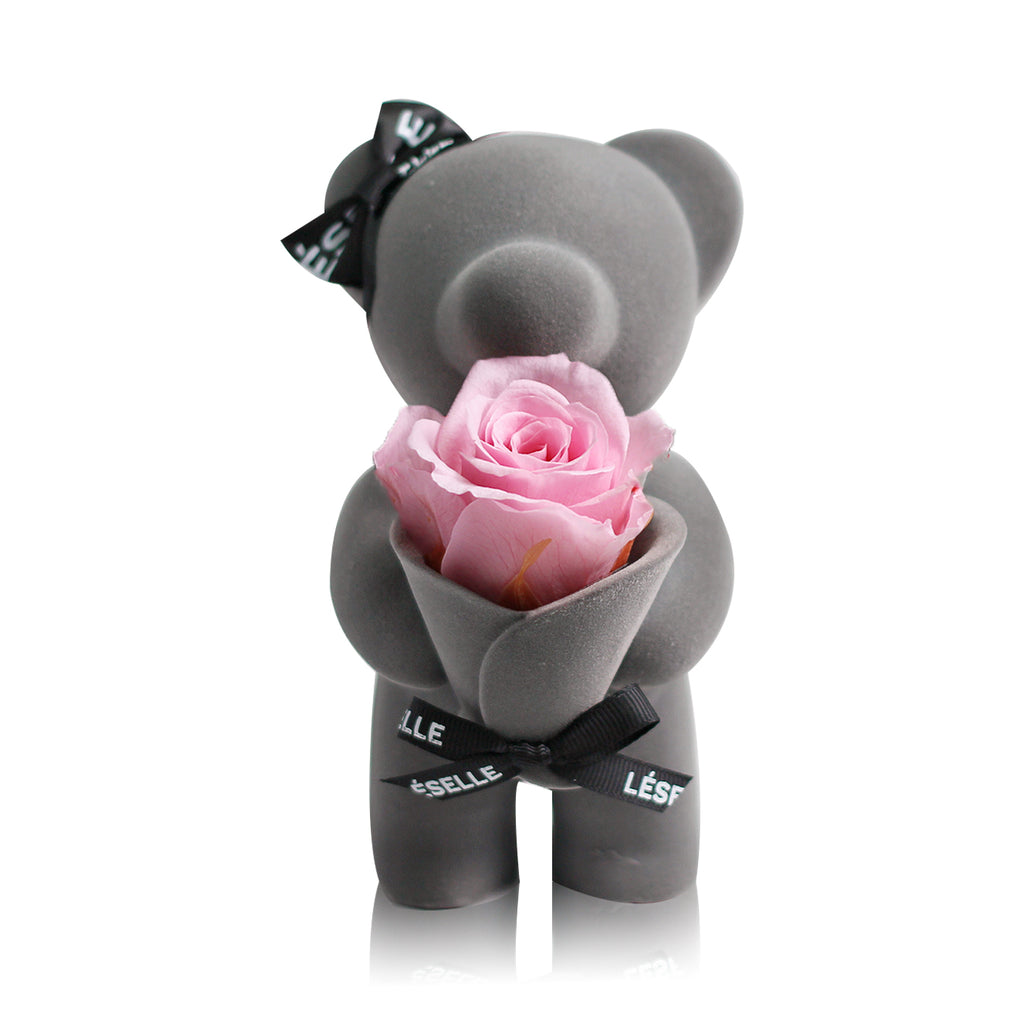 Eternal Rose Bear (Pink)|Forever Rose|Eternal Flowers|Léselle