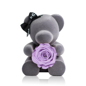 Eternal Rose Bear (Purple)|Forever Rose|Eternal Flowers|Léselle