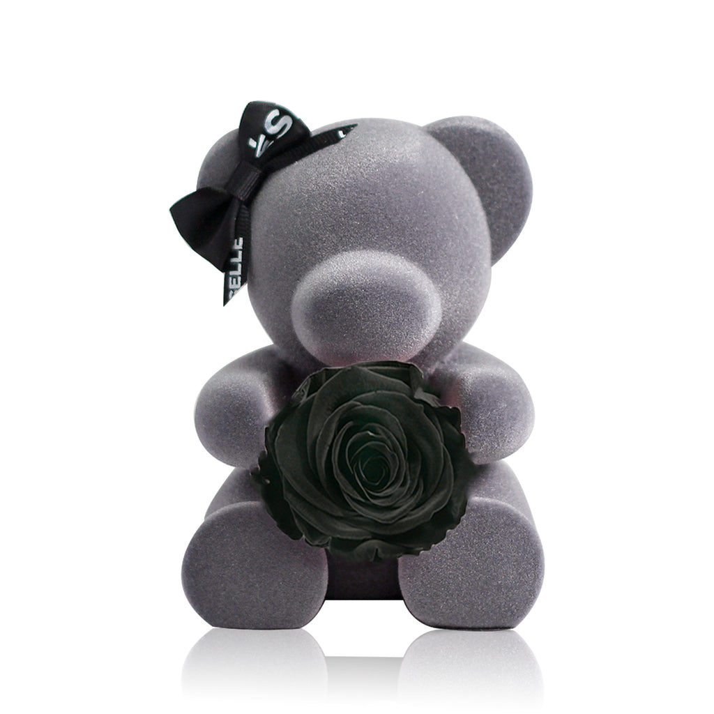 Eternal Rose Bear (Black)