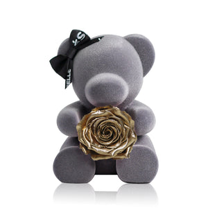 Eternal Rose Bear (Gold)|Forever Rose|Eternal Flowers|Léselle