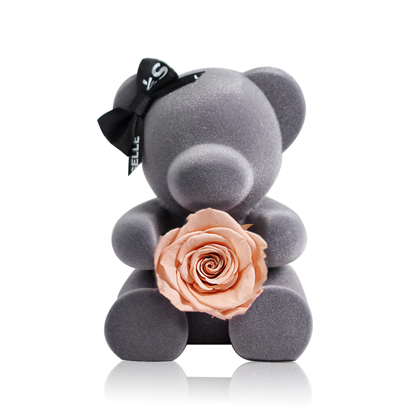 Eternal Rose Bear (Champagne)|Forever Rose|Eternal Flowers|Léselle
