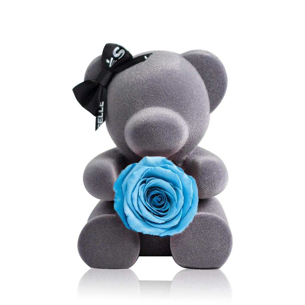 Eternal Rose Bear (Sky Blue)|Forever Rose|Eternal Flowers|Léselle