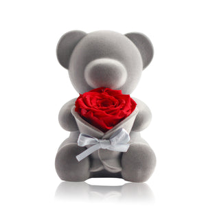 Eternal Rose Bear Music Decoration