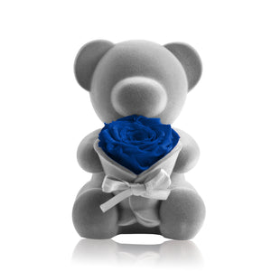Eternal Rose Bear Music Decoration (Blue)
