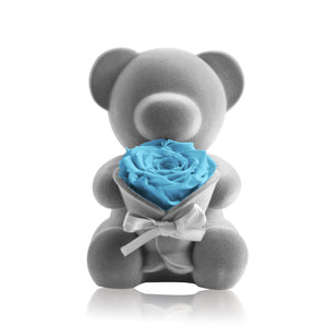 Eternal Rose Bear Music Decoration (Baby Blue)