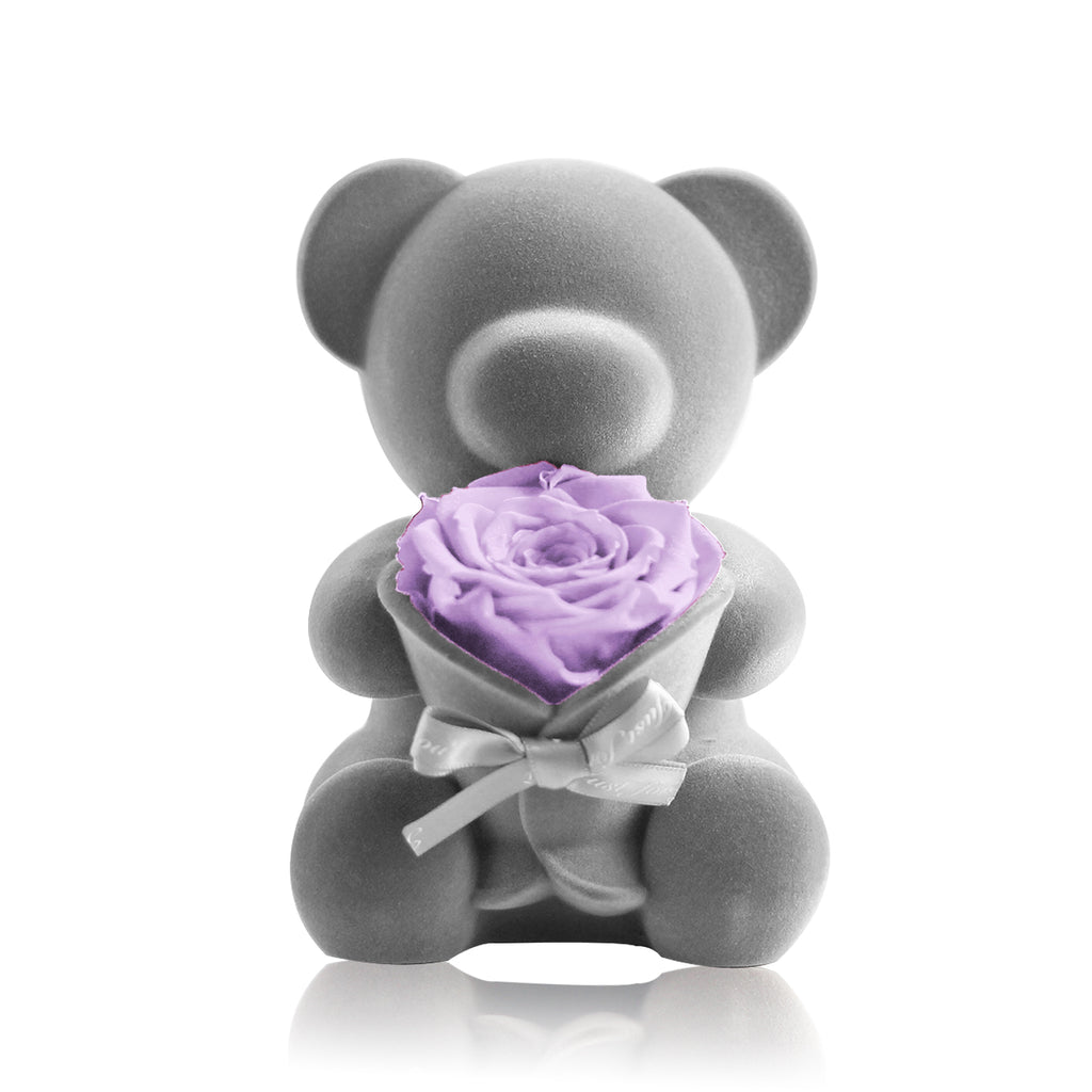 Eternal Rose Bear Music Decoration (Light Purple)
