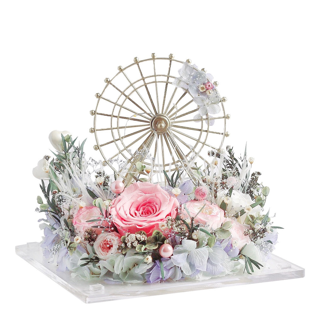 Ferris Wheel with LED light|Forever Rose|Eternal Flower|Léselle
